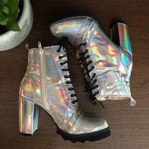 Chase + Chloe Hologram Boots